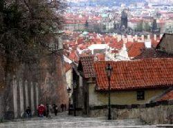 プラハ城の坂