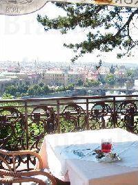プラハ一望のカフェ